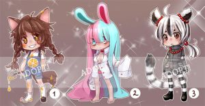 kemonomimi adoptables set 1 -CLOSED- by Next--LVL