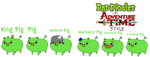The Bad Piggies in Adventure Time Style by jared33