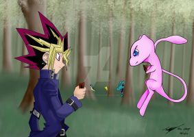 Mew VS Yugi by A-Leap-Of-Faith