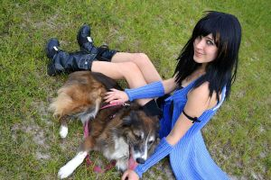 Rinoa and Angelo by leppa-berry