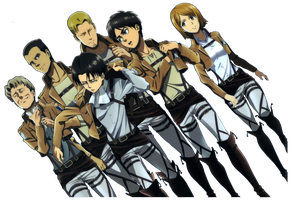 Old Levi Squad Render by Buntglass