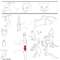 Laya the dragon concept art by zavraan