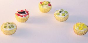 Fruit Tartlets Summer Charms by PookieTookieJewelry
