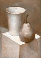 Still Life. Pear and Cup. 2003 by Yudaev