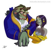 Beauty Raven and the Beast(boy) by RickCelis
