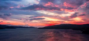Kylesku Sunset by bongaloid