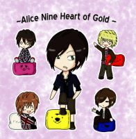 Alice nine cushions by Saku-chaan