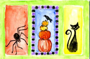 Halloween Triptych by NycterisA