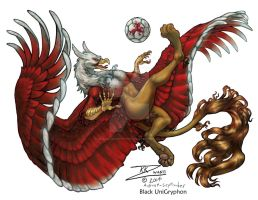 Soccer Gryphon 3 of 3 by BlackUniGryphon
