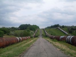 Supply canal Seversky Donets-Donbass in Gorlovka by FCSD