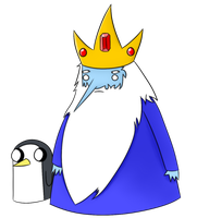 Ice King and Gunter by TheXHero