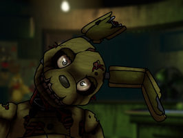 I tried to draw Springtrap by xXBlueFireDragonXx
