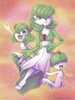 Gardevoir - Evolutionary Chain by RoseyRoseyMae