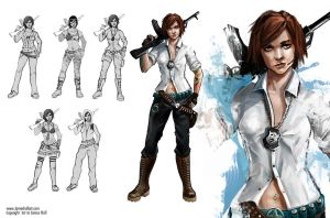 Graffiti Girl Character Sheet2 by Turkiish