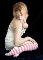 Pink Striped Socks XI by fetishfaerie-stock