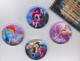 Buttons for Galacon 2013! Tell me... by DeathPwny