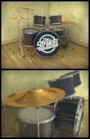 The Strokes Drumset by rptdelosreyes
