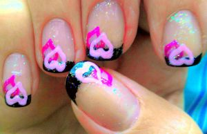 French tip hearts by wolfgirl4716