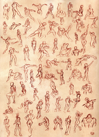 Gesture drawings by R-no71