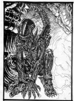 Alien drawing by MarianoTvw