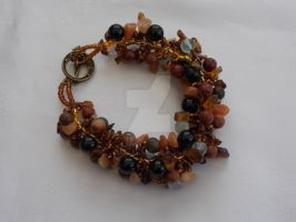 Spiral rope earth tones bracelet  227 by Quested-Creations