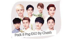 Pack PNG EXO By Chanh by emlaxinkgai