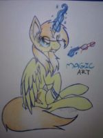 MLP FIM- Magic Art by Rainbow-Note