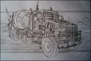 Cement truck by MikeManser