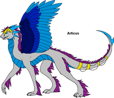 Articus's Angelic Form by ThunderClawShocktrix