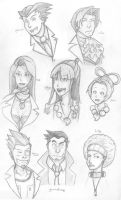Turnabout Practice Drawings by Radiea