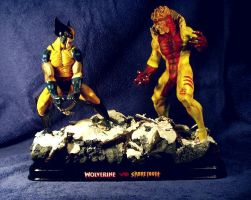 Wolverine vs Sabretooth by Joker-laugh