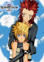 Roxas and Axel:Friends Forever by InnocenceShiro