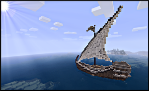Minecraft medium boat by Sillouete