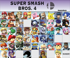 Super Smash Bros. 4 Fanmade Roster: Part 3 by MagnetarMaster