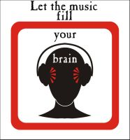 Let the music fill your brain by Karangond