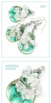Sea Green Set - Z191 by AnnAntonina