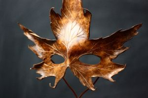 Maple Leaf Mask by OsborneArts
