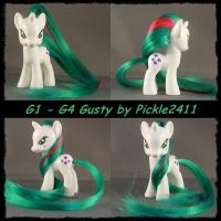 my little pony Gusty custom G1- G4 by pickle2411