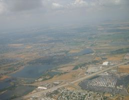 Lakes from a Plane by bewaretheides