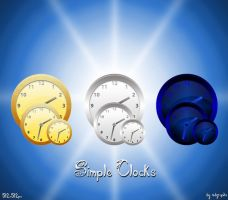 Simple Clock icons by MDGraphs