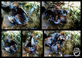 Swelththyrae - Handmade dragon statue - SOLD by SonsationalCreations