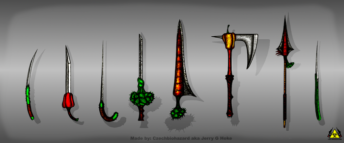 VT: Vegetable Sword Concepts by CzechBiohazard
