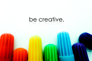 be creative. by Luphydzzz