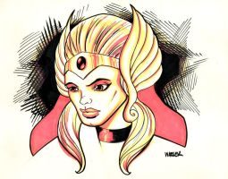 Twitter Sketches: She-Ra by MatthewWarlick