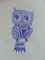 Owl doodle by StarLightDragoness