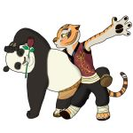 Tigress and Po Dancing by bico-kun
