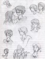 Harry Potter Doodles by silveraaki