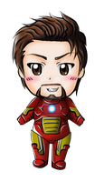 Chibi Tony Stark aka. Iron man by Cap-Ironetta