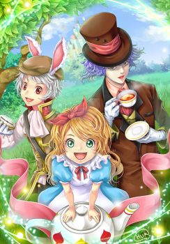 Alice in wonderland by Huapika