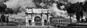 Arch of Constantine and Colosseum by crh